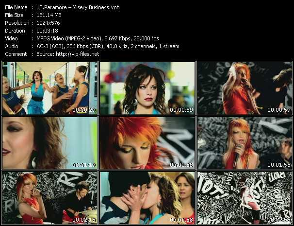 Paramore HQ Videoclip «Misery Business»