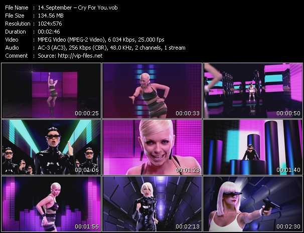 September HQ Videoclip «Cry For You»