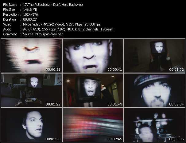 Potbelleez HQ Videoclip «Don't Hold Back»