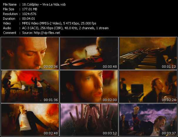 Coldplay HQ Videoclip «Viva La Vida»
