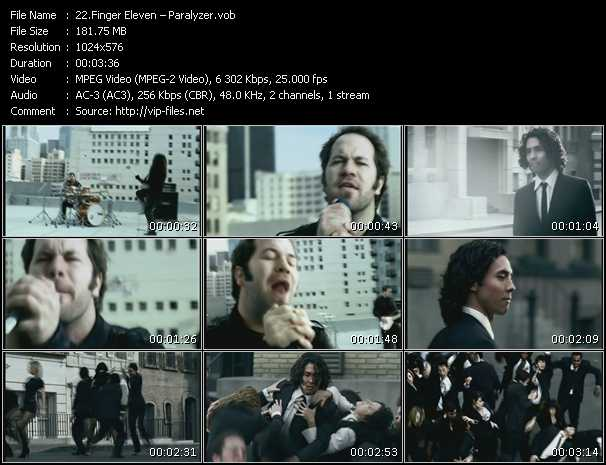 Finger Eleven HQ Videoclip «Paralyzer»