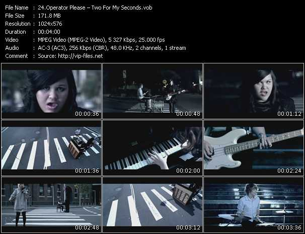 Operator Please HQ Videoclip «Two For My Seconds»