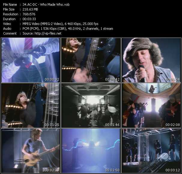 Ac-Dc video - Who Made Who