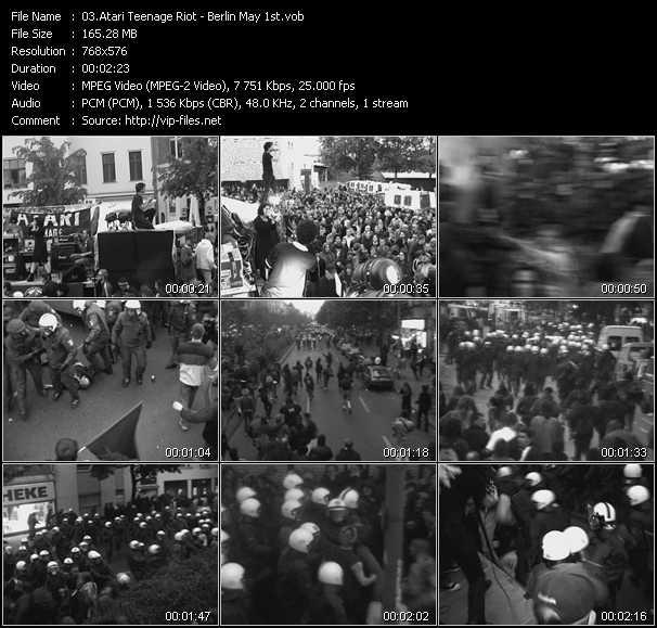 Atari Teenage Riot HQ Videoclip «Berlin May 1st»