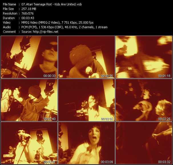 Atari Teenage Riot HQ Videoclip «Kids Are United»