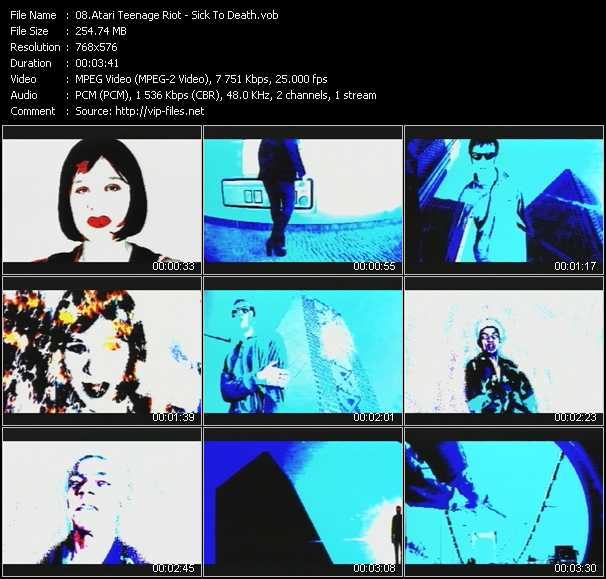 Atari Teenage Riot HQ Videoclip «Sick To Death»