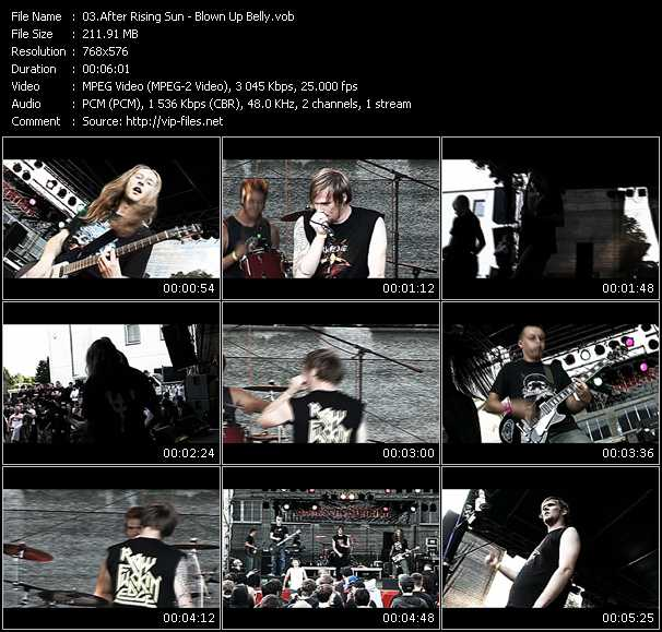 After Rising Sun HQ Videoclip «Blown Up Belly»
