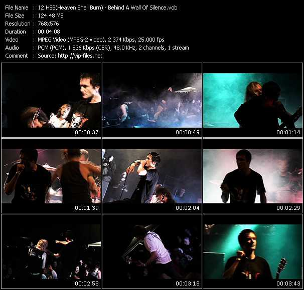 HSB (Heaven Shall Burn) video - Behind A Wall Of Silence