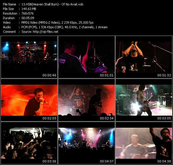 HSB (Heaven Shall Burn) video - Of No Avail
