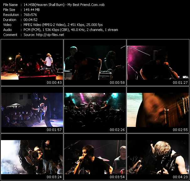 HSB (Heaven Shall Burn) video - My Best Friend.Com
