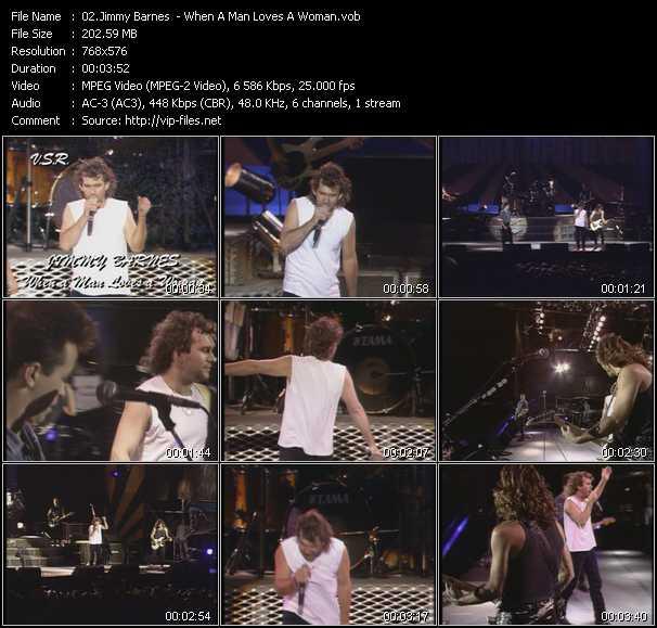 Jimmy Barnes HQ Videoclip «When A Man Loves A Woman»