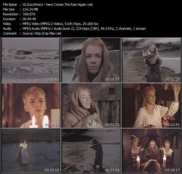 Eurythmics HQ Videoclip «Here Comes The Rain Again»