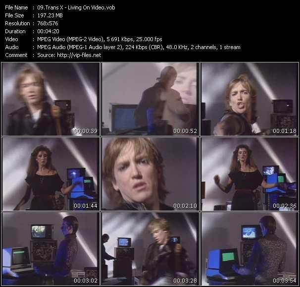Trans-X HQ Videoclip «Living On Video»