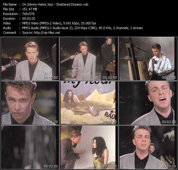 Johnny Hates Jazz HQ Videoclip «Shattered Dreams»