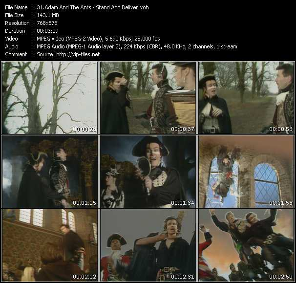 Adam And The Ants HQ Videoclip «Stand And Deliver»