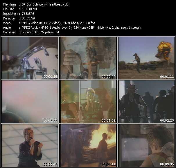 Don Johnson HQ Videoclip «Heartbeat»