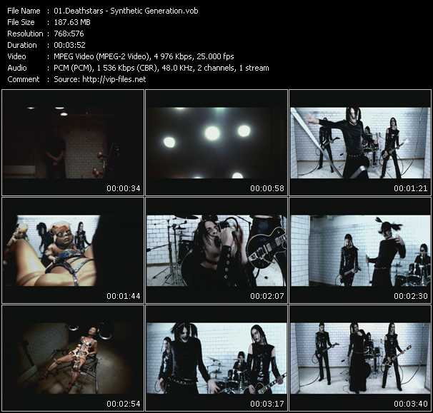 Deathstars HQ Videoclip «Synthetic Generation»