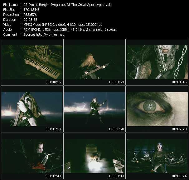 Dimmu Borgir HQ Videoclip «Progenies Of The Great Apocalypse»