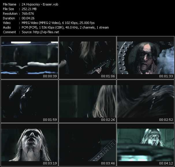 Hypocrisy HQ Videoclip «Eraser»