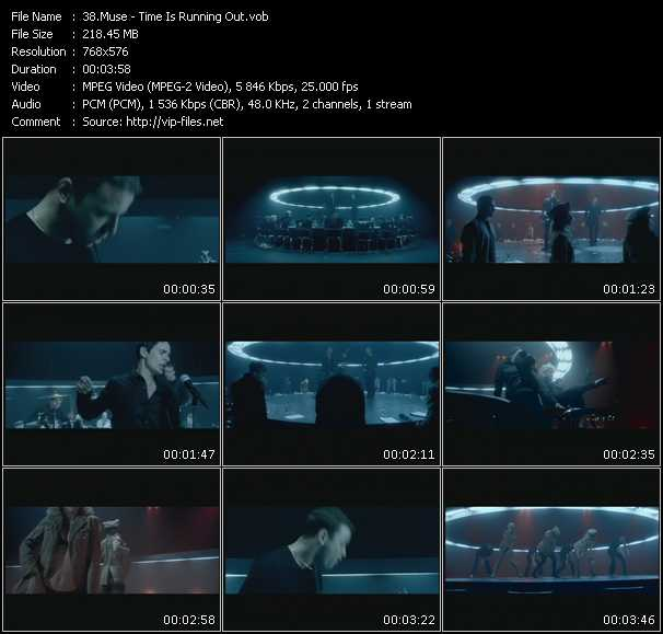 Muse HQ Videoclip «Time Is Running Out»