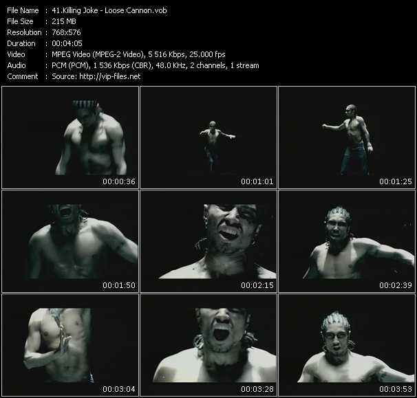 Killing Joke HQ Videoclip «Loose Cannon»