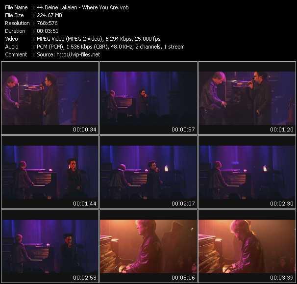 Deine Lakaien HQ Videoclip «Where You Are»