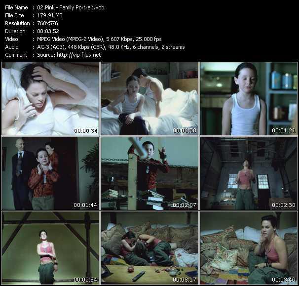 Pink HQ Videoclip «Family Portrait»