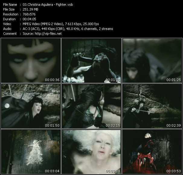 Christina Aguilera HQ Videoclip «Fighter»