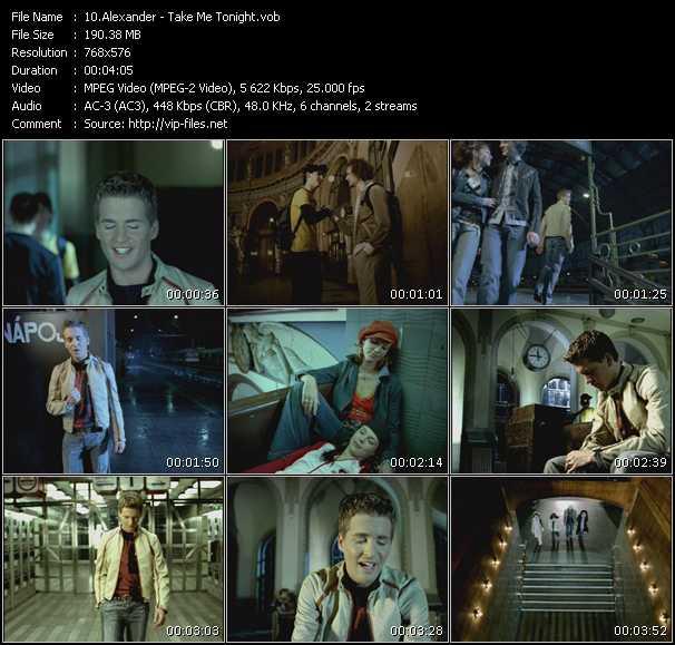 Alexander HQ Videoclip «Take Me Tonight»