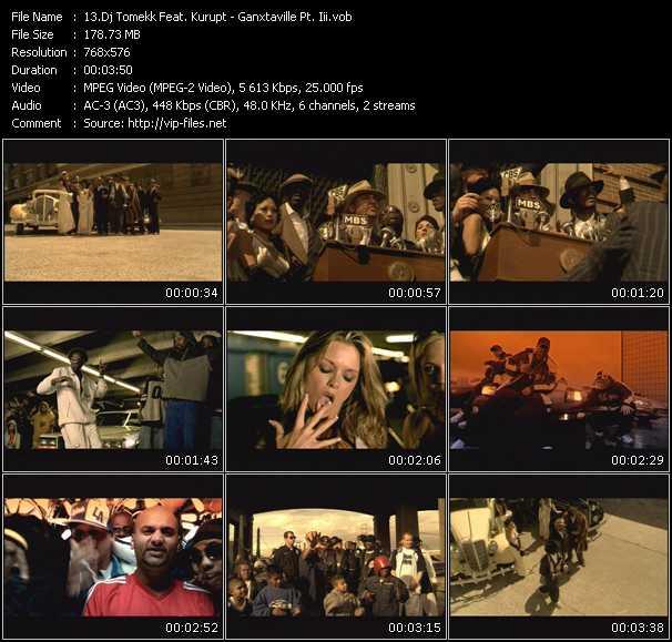 Dj Tomekk Feat. Kurupt HQ Videoclip «Ganxtaville Pt. Iii»