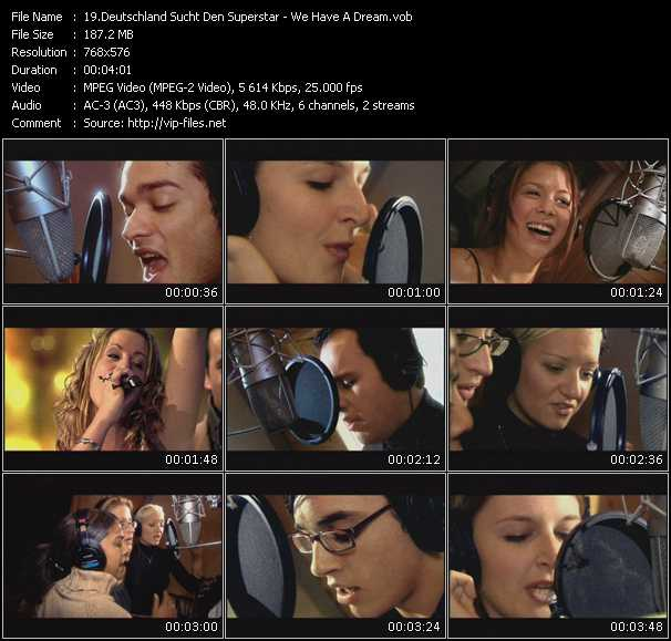 Deutschland Sucht Den Superstar HQ Videoclip «We Have A Dream»