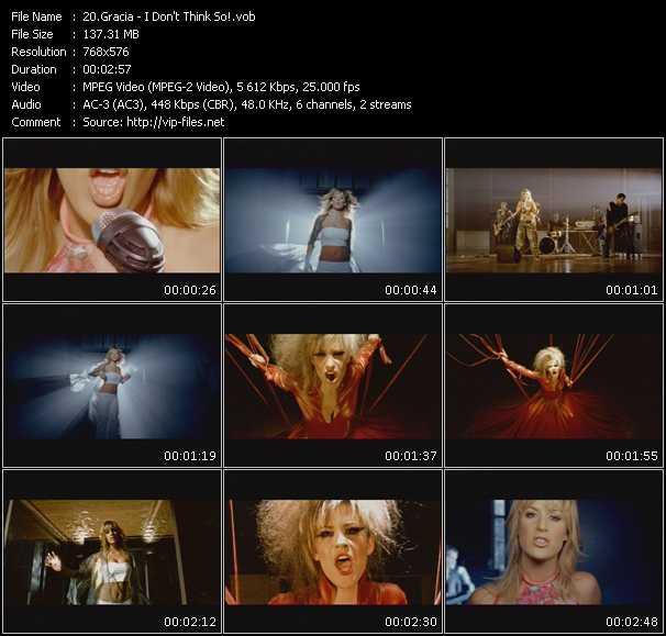 Gracia HQ Videoclip «I Don't Think So!»