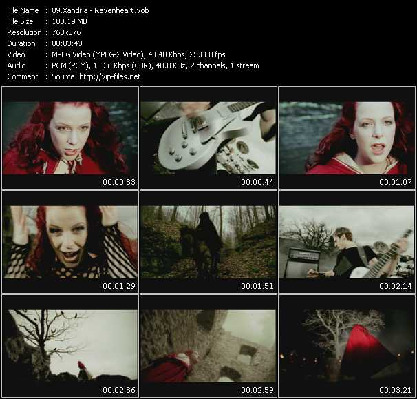 Xandria video - Ravenheart