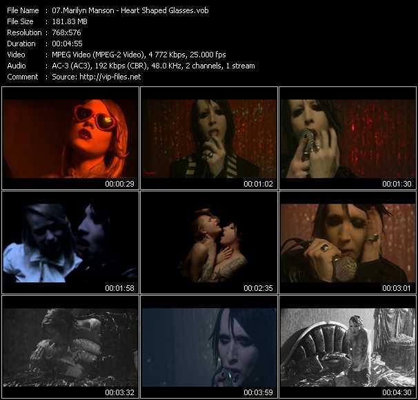 Marilyn Manson HQ Videoclip «Heart Shaped Glasses»