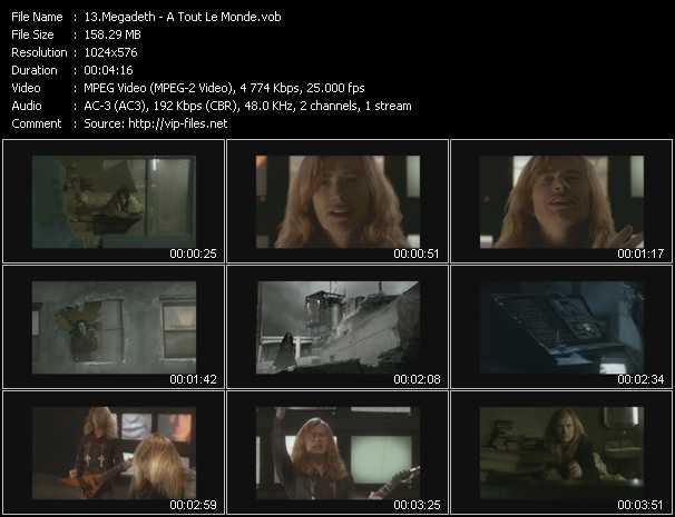 Megadeth HQ Videoclip «A Tout Le Monde»
