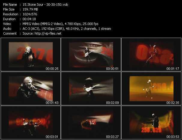 Stone Sour HQ Videoclip «30 - 30-150»