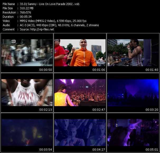 Dj Sammy HQ Videoclip «Live On Love Parade 2002»