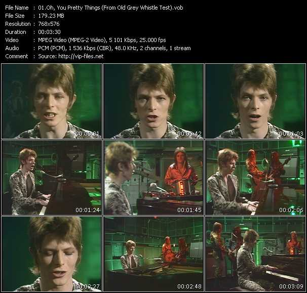 David Bowie HQ Videoclip «Oh, You Pretty Things (From Old Grey Whistle Test)»