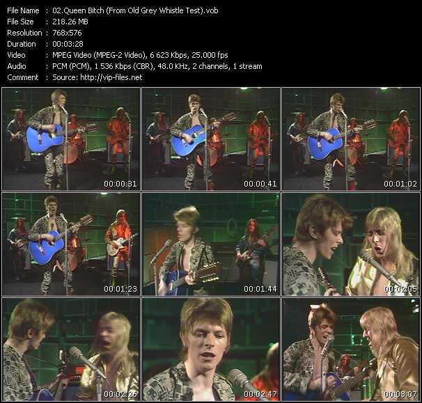 David Bowie HQ Videoclip «Queen Bitch (From Old Grey Whistle Test)»