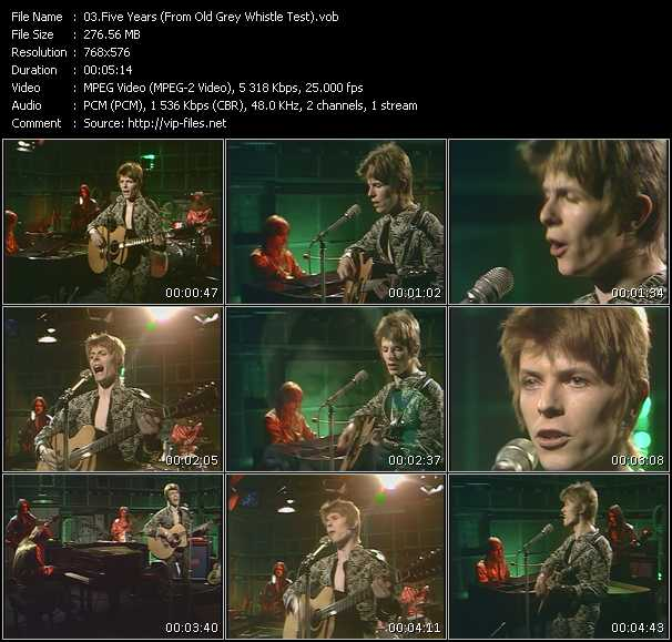 David Bowie HQ Videoclip «Five Years (From Old Grey Whistle Test)»