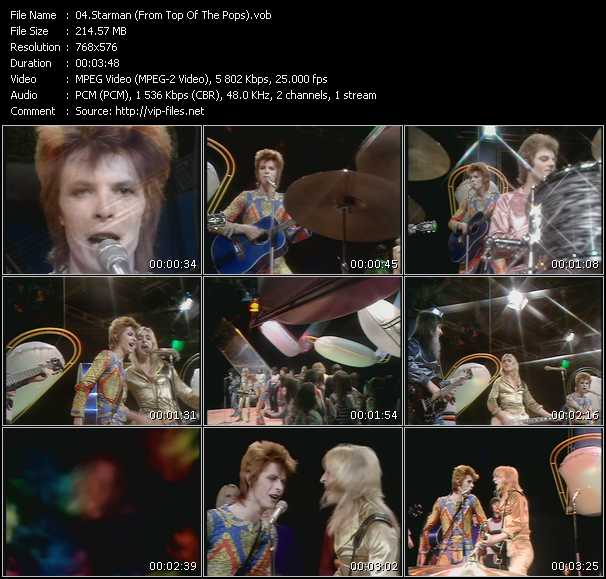 David Bowie HQ Videoclip «Starman (From Top Of The Pops)»