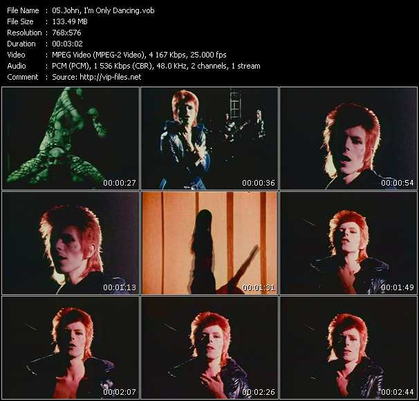 David Bowie HQ Videoclip «John, I'm Only Dancing»