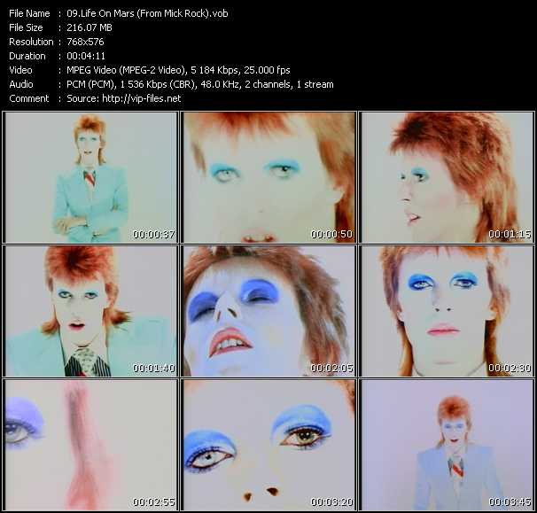 David Bowie HQ Videoclip «Life On Mars (From Mick Rock)»