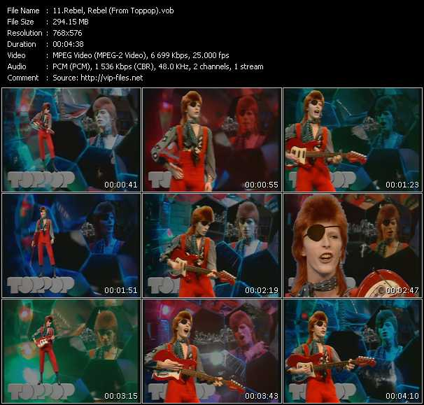 David Bowie HQ Videoclip «Rebel Rebel (From Top Pop)»