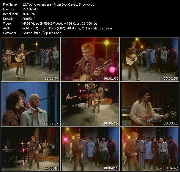 David Bowie HQ Videoclip «Young Americans (From Dick Cavett Show)»