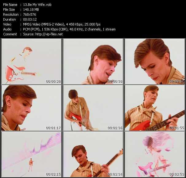 David Bowie HQ Videoclip «Be My Wife»