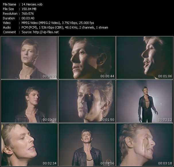 David Bowie HQ Videoclip «Heroes»