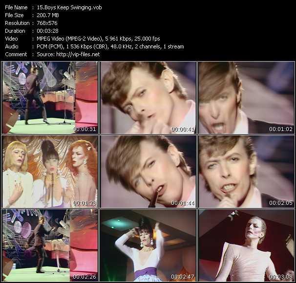 David Bowie HQ Videoclip «Boys Keep Swinging»