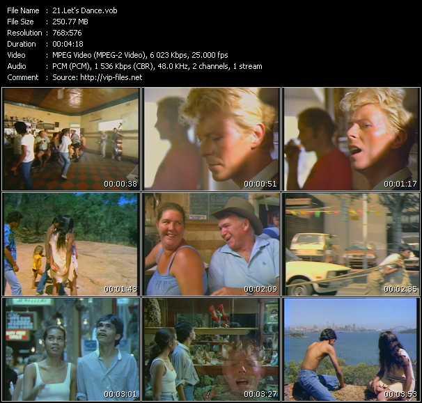 David Bowie HQ Videoclip «Let's Dance»