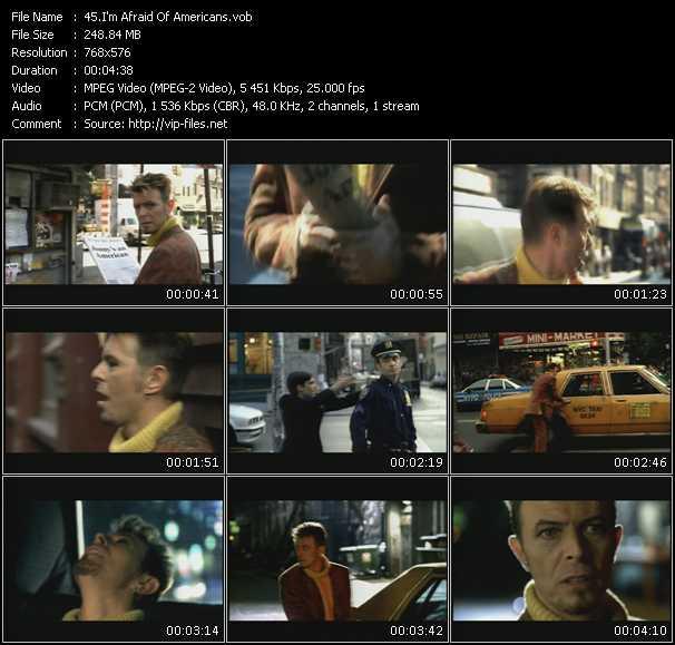 David Bowie HQ Videoclip «I'm Afraid Of Americans»